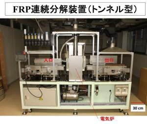 FRP連続分解装置